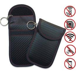 llave volkswagen cc Rebajas Caja de bloque de señal de llave de coche RFID bolsa de bloqueo de llave de coche Entrada sin llave Fob Guard Señal de bloqueo bolsa de bolsa AAA1828