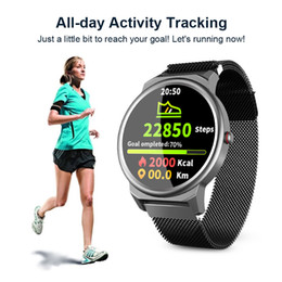 relojes inteligentes lemfo Rebajas LEMFO Elf1 inteligente mujeres del reloj de 1.3 pulgadas de pantalla táctil completa Ronda impermeable Correa reemplazable para el regalo monitor de ritmo cardíaco IP67