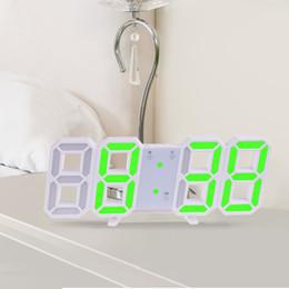 Большие дисплеи цифровые настенные часы онлайн-Anpro 3d Большие Светодиодные Цифровые Настенные Часы Дата Время Цельсия Ночник Дисплей Настольные Часы Часы Будильник Из Гостиной