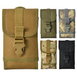 Sacchetto della cinghia del telefono mobile online-5 stili all'aperto tattica borsa appesa camouflage borse per telefoni cellulari tasca vita piccola borsa da uomo borse da cintura FFA2906