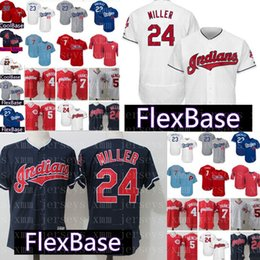 Venta al por mayor online-Cleveland Indians Jersey 24 Andrew FlexBase CoolBase Barato cosido al por mayor Jerseys de béisbol 23 Adrian Gonzalez Envío gratis