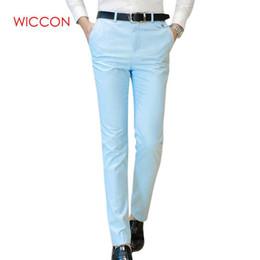 5313b9baa07 2019 Formal Wedding Men Suit Pants Fashion Slim Fit Business Casual Blazer Straight  Dress Trousers Male Wedding Suit Long Pants