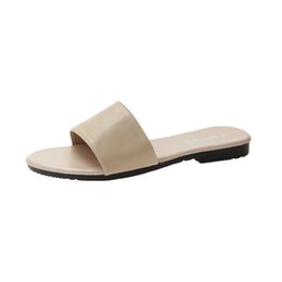 las mujeres que usan sandalias de playa Rebajas ChamsGend Summer New Round Head Sandals Bear Flat Full Word Word Slippers Women Fashion Wear Playa Mujeres Sandalias al aire libre