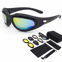 Четыре объектива на открытом воздухе велосипед Велоспорт CS тактика очки безопасности мотоцикл очки / C5 поляризованный свет костюм тактические смолы линзы от