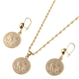 conjuntos de joyas de francia Rebajas Moneda francesa Collares pendientes Colgante Conjunto Joyería Coq gaulois Conjunto Símbolo de joyería de Francia