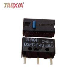 interruptor del botón del ratón Rebajas Interruptor micro original para mouse Omron D2FC-F-K (50m) 7N 10m 20M OF Razer Button 5pcs Interruptor micro para mouse Blue Point