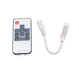 Ferndimmer schalter geführt online-DC5-24V Mini 10key RF Funkfernschalter Controller Mit Mini LED Dimmer Für Flexibles Band RGB 5050/3528 LED Streifen Licht