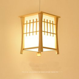 Luces colgantes de estilo japonés online-Lámparas colgantes de balcón de madera clásico Comedor de estilo japonés Lámpara colgante de pasillo Lámpara colgante de pasillo MYY
