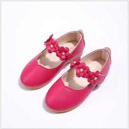 2019 оптовые платья для девочек 2019 Новые детские цветочные принцесса обувь милые девушки на мягкой подошве из искусственной кожи 4 цвета размер 21-36