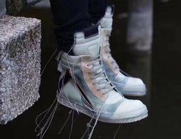 2019 botas de borracha transparentes Botas de couro genuíno de alta qualidade moda couro genuíno tecido interno resistente ao desgaste solas de borracha 3D botas de treinador transparentes botas de borracha transparentes barato