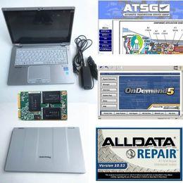 Marca chrysler on-line-Scanner de carro Diag touchscreen Laptop CF-AX2 I5 Alldata V10.53 + Mit 5 + ATSG 2012 reparação auto soft-ware para o carro multi-marca