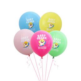 Ins Baby Shark Cartoon palloncini in lattice per bambini Bambini Festa di compleanno palloncini di carnevale 12 pollici palloncino colorato per la casa decorazione di nozze A52008 da regali ginnastici fornitori