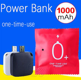 Banca del caricabatteria online-Disposable Mini 1000MAH One Time Use caricabatterie wireless esterno Portable Battery Power Bank emergenza ricarica per IOS Cellulari Android izeso
