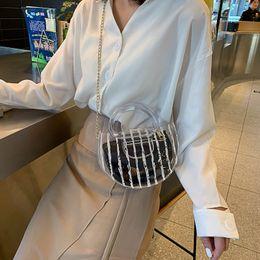 koreanische spitzenhandtaschen Rabatt Sommer transparente Jelly Bag für Damen, koreanische Version der Mode Mini-100-Spitze-Kette, One-Shoulder-geneigte Handtasche, 2019