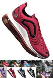 Nike Air Max 720 Hombres y mujeres nuevos rojo negro primavera y otoño moda juvenil zapatos al aire libre Eur 36-45 al por mayor desde fabricantes
