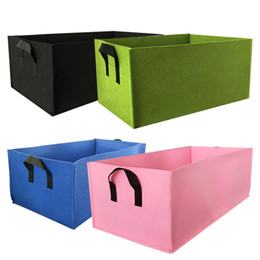 green fruit bags Promo Codes - Non-Woven Eco Friendly Rectangular Planting Bag Grow Bag Flower Vegetable Fruit Planting Bag Family Garden Planting Accessories BH1858 CY