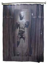 2019 tissu religieux War Han Solo dans le rideau de douche Carbonite Star