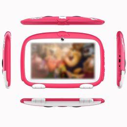 educazione compresse Sconti Tablet di apprendimento WiFi da 7 pollici con doppia fotocamera PC per bambini Educazione precoce 2600mAh 1 GB di RAM + 8 GB di ROM 1024x600