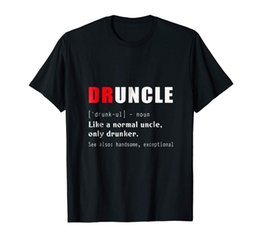 78fd3a6e Druncle Uncle T-shirt Funny Drink Beer Lover Shirt For Men Birthday Tee  Gift Short Sleeve Plus Size t-shirt