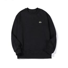 шея ткань Скидка 2019 новый дизайнер свитер мужчин и женщин высокого качества с длинным рукавом O-образным вырезом пуловер письмо вышивка свитер вязаный хлопок махровые ткани