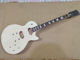 Corpo lp on-line-1 conjunto inacabado guitarra pescoço e corpo para kit de guitarra estilo LP
