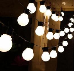 gran bola de luces de navidad Rebajas 2.5M / 5M / 10M LED Fairy Christmas String Lights 5 CM Big Ball Guirnalda impermeable al aire libre para el día de fiesta de Navidad boda Jardín luz AC.110V-220v