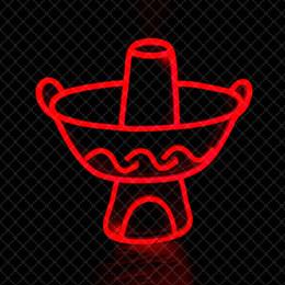 Enseignes au néon rouge en Ligne-Red Hot Pot décoration murale Sign restaurant hot pot néon main signe lumière 12 V Super Bright