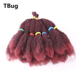 pelo rosa trenzado jumbo Rebajas Afro Kinky Bulk Crochet Twist trenzado extensión del pelo para las mujeres Senegalese Twist sin cola Fibra sintética falso pedazo del pelo
