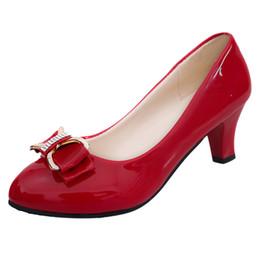 Canada Chaussures Sexy Sexy Femmes Tête ronde Bouche peu profonde Bouche anti-dérapante Talon mi-talon unique Zapatos De Mujer Con Plataforma T # g30 Offre