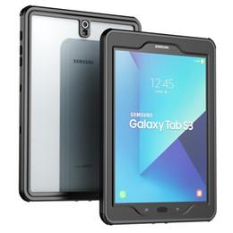 pele de borracha pesada Desconto Para Samsung Galaxy Tab S3 caso à prova d'água com tela embutida corpo inteiro robusto protetora para Galaxy Tab S3 9,7 polegadas 2017