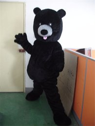 Schwarze bär maskottchen kostüme online-Halloween Black Bear Maskottchen Kostüm Cartoon Tier Anime Thema Charakter Weihnachten Karneval Party Kostüm