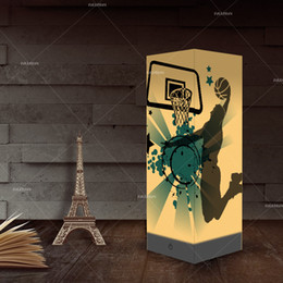 Yatak odası Başucu Lambası için Basketbol Tasarım 3D Yaratıcı Gece Lambası Sıcak Satış USB Gece aydınlatması LED Nightlight nereden kristal dönen led tabanlı tedarikçiler