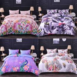 Rainha do conjunto da cama dos cervos on-line-Homesky animal cervos capa de edredão, Rei, Rainha tamanho Consolador Bedding Sets Leopard Printing Bedding Set