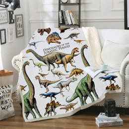 tapis de sieste Promotion Couverture Dinosaur Literie Sheet Sofa Couverture Nap Throw Comme tapis de pique-nique Voyage accueil pour les adultes sur les enfants Lit de bébé Avion Cobertor