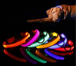 piscando coleiras cão Desconto Coleira de cachorro de estimação LED Flash Coleiras Cat Dog Collars Lanternas Dibo América Huskies Teddy Grande Coleiras de cão S M L XL Emitting LED Pet Suprimentos