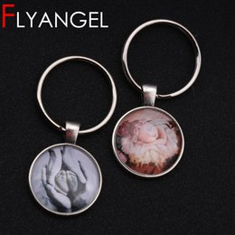 милый мешок мешки Скидка Personalized Photo Text Glass Dome Cabochon Keychain Cute Car Key Tag Bag Charm Jewelry Gifts For Friends Lovers Family Keyring