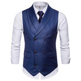 2019 Primavera e autunno su misura Gentlemen Pure Color Doppio petto Armatura da uomo Uomo British Western Armor Cappotto gilet di grandi dimensioni da