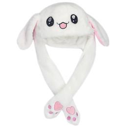 berretto da baseball coniglio Sconti Tre colori della peluche Airbag protezioni sveglie Cappelli coniglio dolce animale con orecchie Moving Bunny Hat per le donne del bambino