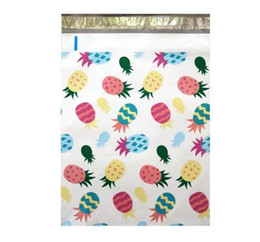 envelopes self seal Promo Codes - 50 pcs 26x33cm 10x13 inch Pineapple White Pattern Poly Mailers Self Seal Plastic Envelope Bags   Jiffy mailing bags