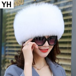 chapéu de pele da rússia Desconto 2018 Mulheres de Inverno Natural real Fur Hat 100% de pele real Cap Qualidade Rússia Caps quentes Bomber Chapéus