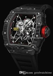 2019 Новый топ бренд Luxury мужские часы RAFAEL NADAL Черный полый Механический автоматический Корпус из углеродного волокна RM 35-01 Резиновый ремешок Мужские наручные часы от