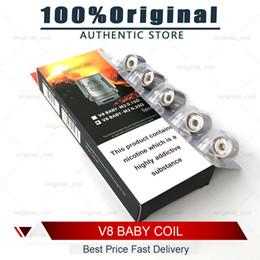 Atomiseurs t8 en Ligne-100% Original V8 BABY Beast Réservoir Bobine Tête AB Codes V8 Bébé-T8 T6 X4 M2 Q2 Noyau Atomiseur Remplacement Bobines Véritable