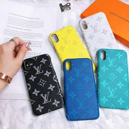 2019 iphone cubierta de futbol Diseñador de color cálido de lujo caja del teléfono para el iPhone X Xs Max XR 8plus 8 7plus 8 7 6 S marca patrón de patrón de la cubierta del teléfono casos anti-shock shell
