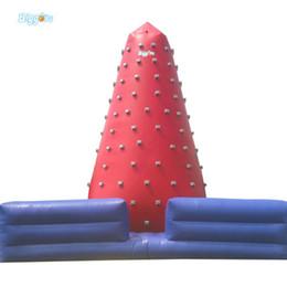 Дети рок стены онлайн-Открытый крытый надувной скалодром Горячие спортивные игры надувные скалодром для взрослых и детей