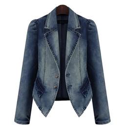2019 дамские длинные джинсовые куртки Весенняя джинсовая куртка Женская джинсовая куртка с длинным рукавом Женская джинсовая куртка и большие размеры дешево дамские длинные джинсовые куртки