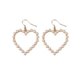 Boucles d'oreille coeurs de perle fondant chaud Pince oreille de coeurs de perle boucle d'oreille creuse ? partir de fabricateur