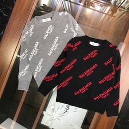 Mischgewebe online-Kinder Designer Clotheskids Kleidung Jungen Und Mädchen Pullover Mode Ganzkörper Brief Mischung Stoff Haut Komfort Rundhals Pullover