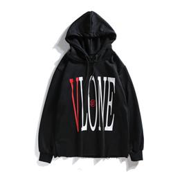 hoodie dragon Promotion Vlone Sweat À Capuche Hip Hop Vlone Dragon Designer Sweat À Capuche Hommes De Haute Qualité Noir Blanc Mens Designer Hoodies Hommes Femmes Sweat-shirts Taille S-XL