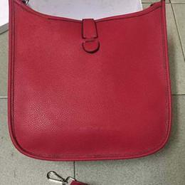 Billige schwarze lederne taschentaschen online-Fashion Classic Women Bag Lederhandtaschen Markendesigner EveIyne Weiblich Berühmte Umhängetaschen Braun Rot Schwarz Günstige Totes