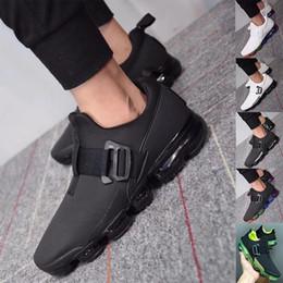 Almofadas de arco-íris on-line-2020 Mens Designer flair Running Shoes Cushion Trainers Black White arco-íris Outdoor Sports Casual homem Sneakers Atlético triplos 40-46 US7-12